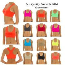 Seamless Sexy Racerback Sports Bra Removable Padded Yoga  Fitness Exercise Top