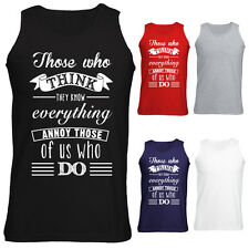 Mens Those Who Think They Know Everything Slogan Funny Vest Tank Top S-XXL