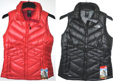 THE NORTH FACE ACONCAGUA VEST WOMENS BLACK RAMBUTAN PINK 550 FILL INSULATED NEW