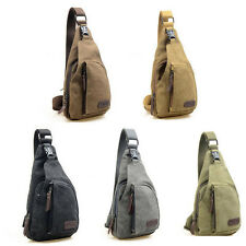 Mens Sports Chest Military Hiking Single Strap Shoulder Crossbody Backpack Bags