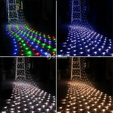 Christmas Wedding Decorative 100/300 LED Fairy Party Net Mesh Light DZ88