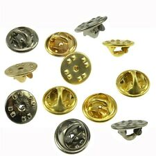 Lot 10 Choice Gold Chrome Lapel Pin Butterfly Clutch Military Clasp Fastener