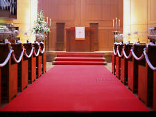 1.5m Wide Red Aisle Rug Carpet Runner Church Casino Wedding Party Decoration