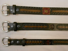 Firefighter Leather Belt, Fireman, USA HandCrafted, Brotherhood Free Shipping