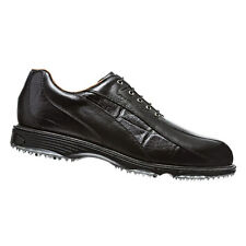 NEW FootJoy Men's Icon 52291 Golf Shoes - Black Croc Spikeless - Mfr. Close-out