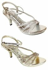 Women Evening Dress Shoes Rhinestones High Heels Platform Wedding Pumps Kelly02