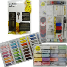SEWING KIT SET THREAD NEEDLES PINS BUTTONS