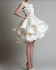 satin white/ivory new wedding dress in stock size 6 to 16,good price and quality
