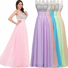Cheap Formal Long Ball Gown Party Prom Bridesmaid Evening Dress Size Stock 6-18+