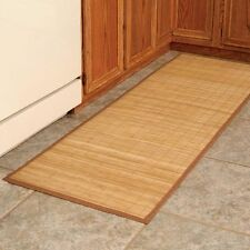 New water resistant bamboo accent rug mat runner non slip backing indoor outdoor