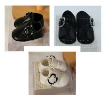 NEW Baby Boys Special Occasion Pram Shoes Christening Wedding Party Black Ivory