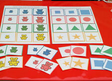 SIZE SORTING GAME - TEDDIES/ SHAPES - SPECIAL NEEDS EYFS AUTISM CHILDMINDER