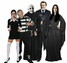 The Addams Family Group Fancy Dress Gothic Halloween Party Costumes