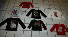 New Girls Christmas Long Sleeve Graphic Tee ~Var Colors/Designs~ Inf & Tod Sizes