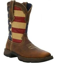 NEW Durango Boots Women's REBEL Patriotic Flag Leather Pull-On Western Boots NIB