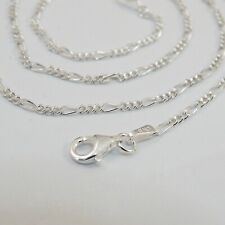 "925 Sterling Silver FIGARO Chain 2mm 050 Necklace Italy 16"", 18"", 20"", 24"", 30"""