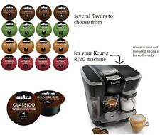 72 Bulk Lot wholesale KEURIG RIVO machine lavazza Single cup Coffee capsule pods
