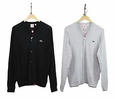 Mens Lacoste Casual  Premium Jersey Stylish V-neck Sweater Tops Cardigan 2 Color