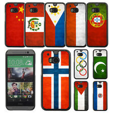 Country National Flag Hard Phone Case Cover for HTC ONE M8