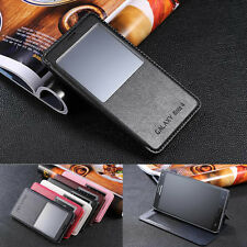 VIEW Windows PU Leather Flip Case Stand Cover Skin For Samsung Galaxy Note 4