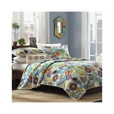 PAISLEY PRINT QUILT SET BOHO BED BLANKET BEDDING QUILTS COVERLET TWIN FULL QUEEN