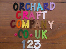 3cm QUALITY UK MADE FELT LETTERS/NUMBERS - 26 Colours - Choose quantity 10 or 15