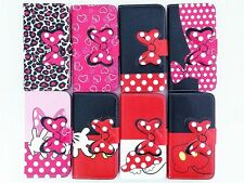 Girl Lady Big Bowtie Flip Leather Case Cover For iPhone Samsung Sony LG Motorola