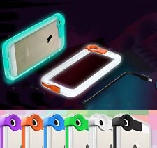 High Speed Charge USB Cable Flash Light Up PC Cover Case For iPhone 4 5 6 6 Plus