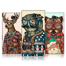 HEAD CASE DESIGNS HIPSTER ANIMALS IN SWEATERS CASE COVER FOR SONY XPERIA M2
