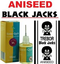 10ml ANISEED BLACK JACK BLACKJACK BOTTLE E LIQUID CIG VAPE JUICE 6 12 18 24 mg