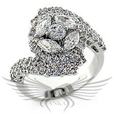 925 Sterling Silver AAA Cubic Zircon CZ Cocktail Engagement Ring Sizes 6 7 80108