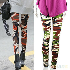 Cool Womens Lady Great Sexy Slim Camo Camouflage Army Green Stretchy Leggings