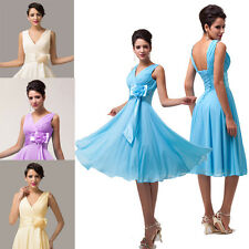 HOT Knee-Length Sexy Chiffon Bridesmaid Summer Party Prom Cocktail Evening Dress