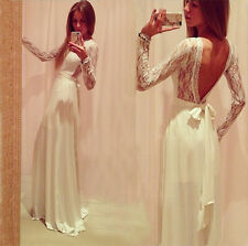 Fashion Sexy Women Ladies Backless Long Party Cocktail Evening Maxi Dress