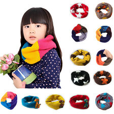 Classic Children's cotton Woolen scarf Boy Girl Scarf Shawl Winter Neckerchief