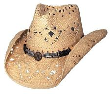 NEW Montecarlo Bullhide ALL SUMMER LONG Western Cowboy Hat Raffia Straw Natural