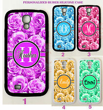 PURPLE FLORAL ROSES MONOGRAM PHONE Case COVER For Samsung Galaxy S9 S8 NOTE 9 8