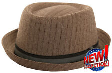 MENS UNISEX PORK PIE HAT  SIZES 57CM OR 59CM CHOOSE COLOUR & SIZE PORKPIE