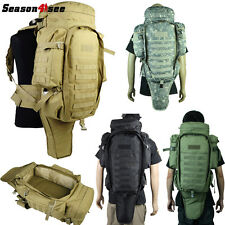 1PC Airsoft Tactical Molle Extended Full Gear Dual Rifle Backpack Big Bag Case