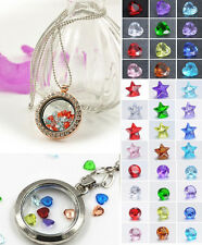 20PCS Crystal Floating Locket Charm for Glass Living Memory Locket New DIY Gifts