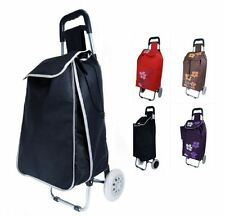 New 2 Wheeled Lightweight Shopping Trolley Festivals Folding Durable Luggage Bag