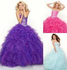 Cheap Ruched A-line Quinceanera Pageant Prom Dress Graduation Evening Ball Gown