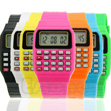 Cute Children Silicone Date Multi-Purpose Electronic Wrist Calculator Watch