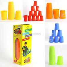 12Pcs Speed Stacks Set Sport Flying Stacking Rapid Competition Cups Luminous Toy