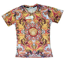 Brand New Authentic Floral Baroque Versace T-Shirt Medusa Head M,L,XL