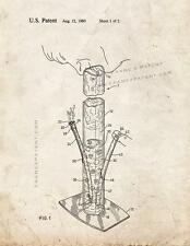 Water Pipe Or Bong Patent Print Old Look