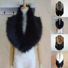 New Luxury Womens Collar 4 Colors New Soft Faux Fur Warm Scarf Thick