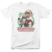 Santa Claus Is Coming To Town Penguin Licensed Adult Shirt S-3XL