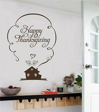 Happy Thanksgiving Vinyl Decal Wall Decor Stickers Words Lettering Home Kitchen