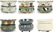 Electric 2 in 1 Ceramic Candle Oil Wax Tart Warmer Burner Scented